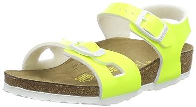 Birkenstock Rio, Sandales Fille, Jaune (Vernis Neon Yellow), 30 EU
