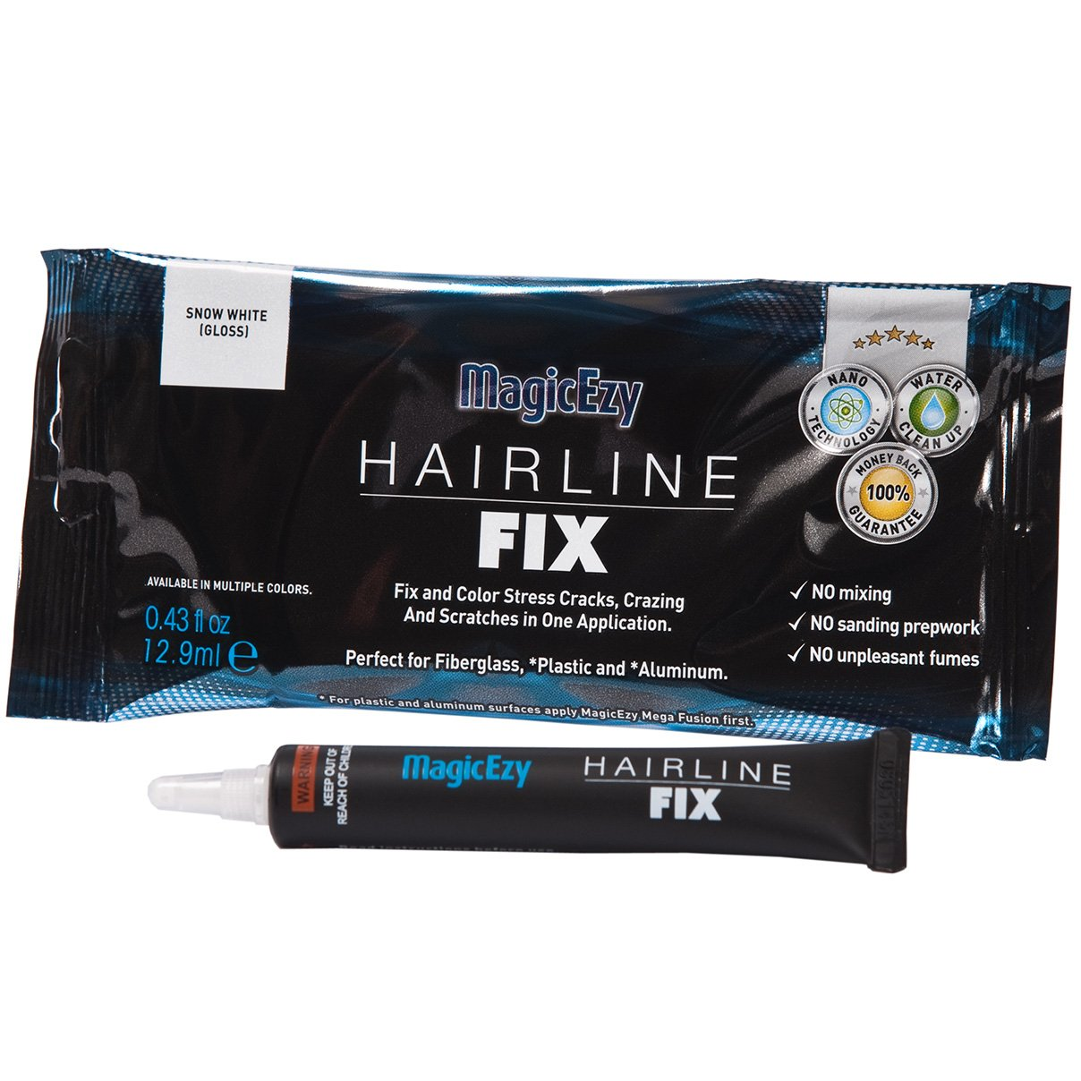 MagicEzy Hairline Fix - One part gelcoat repair - Color Matched to boat - Structural Grade Adhesion - Highly flexible so repairs hold. (Strawberry) by MagicEzy