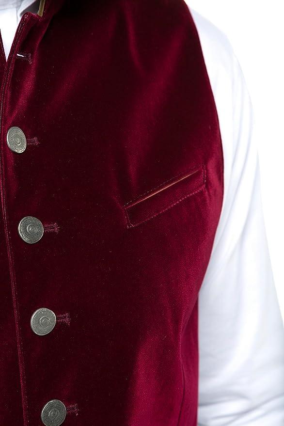 JP 1880 Homme Grandes Tailles Gilet sans Manches en Daim Traditionnel Rouge fonc/é 58 716980 50-58