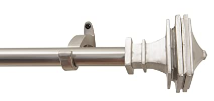 Rulu 44 By 108 Inch Curtain Rod With 3 4 Pipe