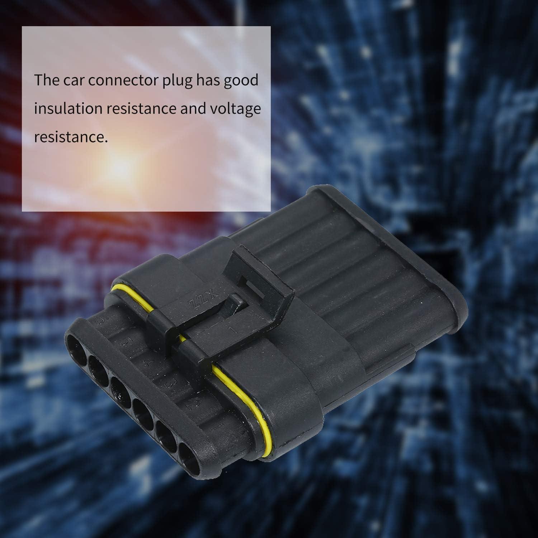 Leepesx Spina connettore elettrico impermeabile a 5 pin a 5 pin con terminali maschio e femmina 5 Spina connettore filo elettrico per auto kit per camion auto