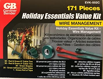 Gardner Bender 171 Piece Holiday Essentials Value Kit Wire Managment