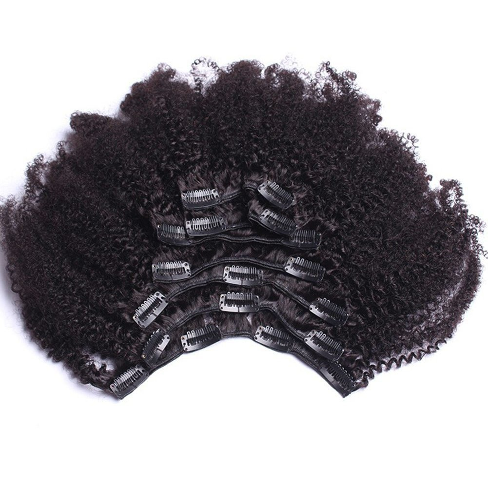 Amazon Afro Kinky Curly Human Hair Clip In Extensions Virgin