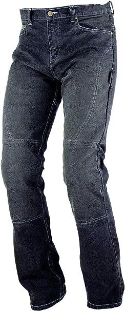 A-pro Pantalon de moto en jean Denim /élastique pour femme Avec protections CE Noir Taille/42