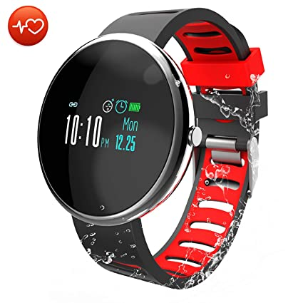 CatShin Pulsera Actividad Inteligente-CS06 Pulsera Deportiva Hombre Mujer Niños Impermeable IP67 Reloj Inteligente con