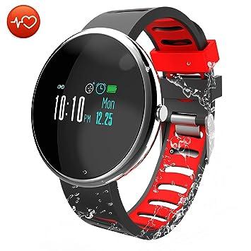 CatShin Pulsera Actividad Inteligente-CS06 Pulsera Deportiva Hombre Mujer Niños Impermeable IP67 Reloj Inteligente con Pulsómetro Monitor de Ritmo Cardíaco ...