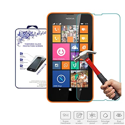 nacodex hd tempered glass screen protector for nokia lumia 630 dual sim 636 635 amazoncom tempered glass