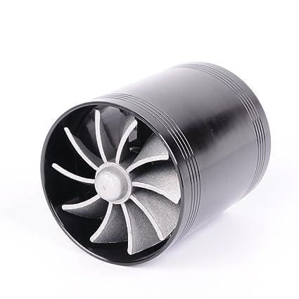 SUNNY coche nuevo GPU Dual Doble Turbina Cargador de Turbo de ahorro de combustible Ventilador de