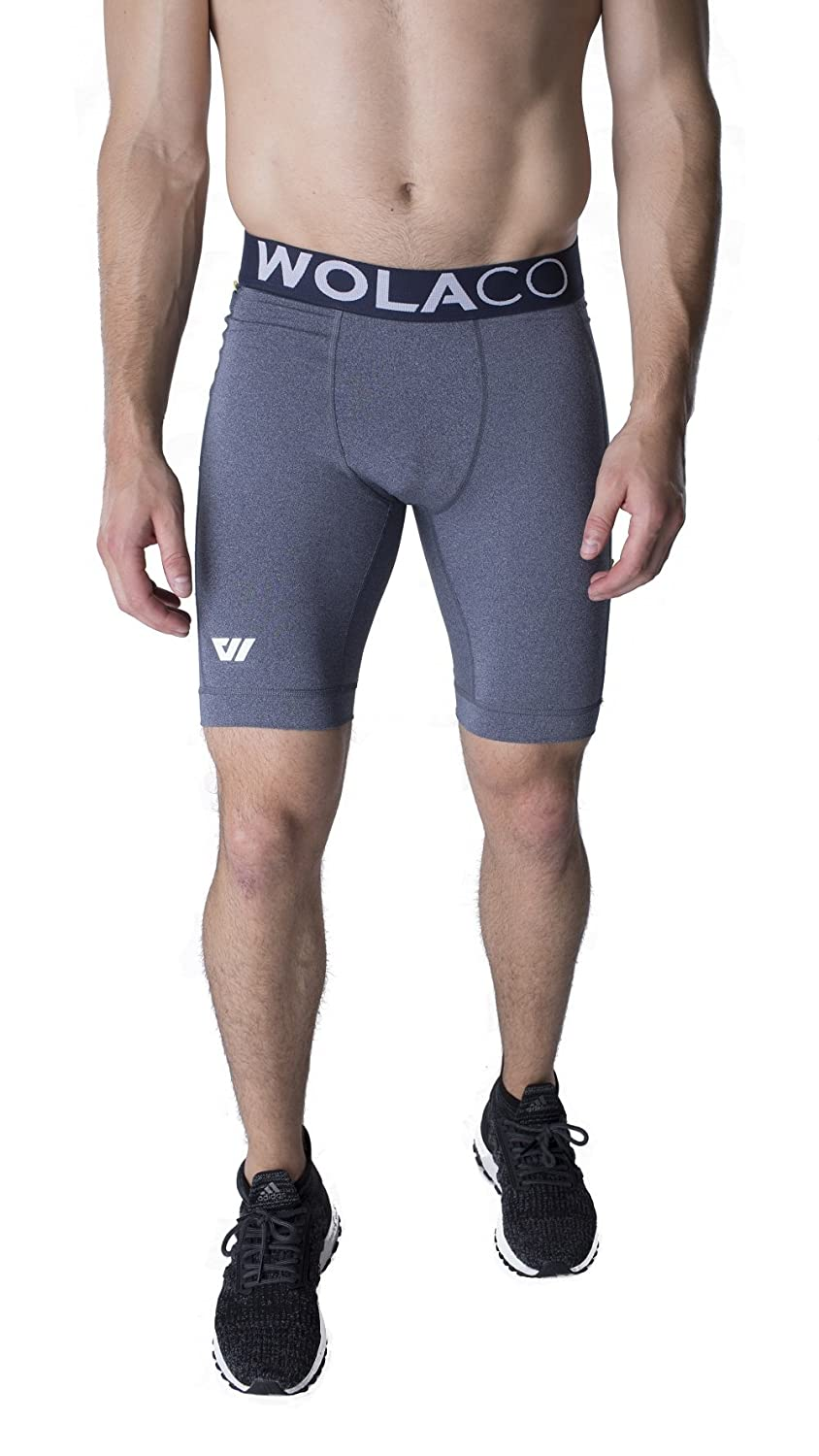 "North Moore Compression Shorts - 9"" Inseam - Compact Sports Activewear - Made in America"