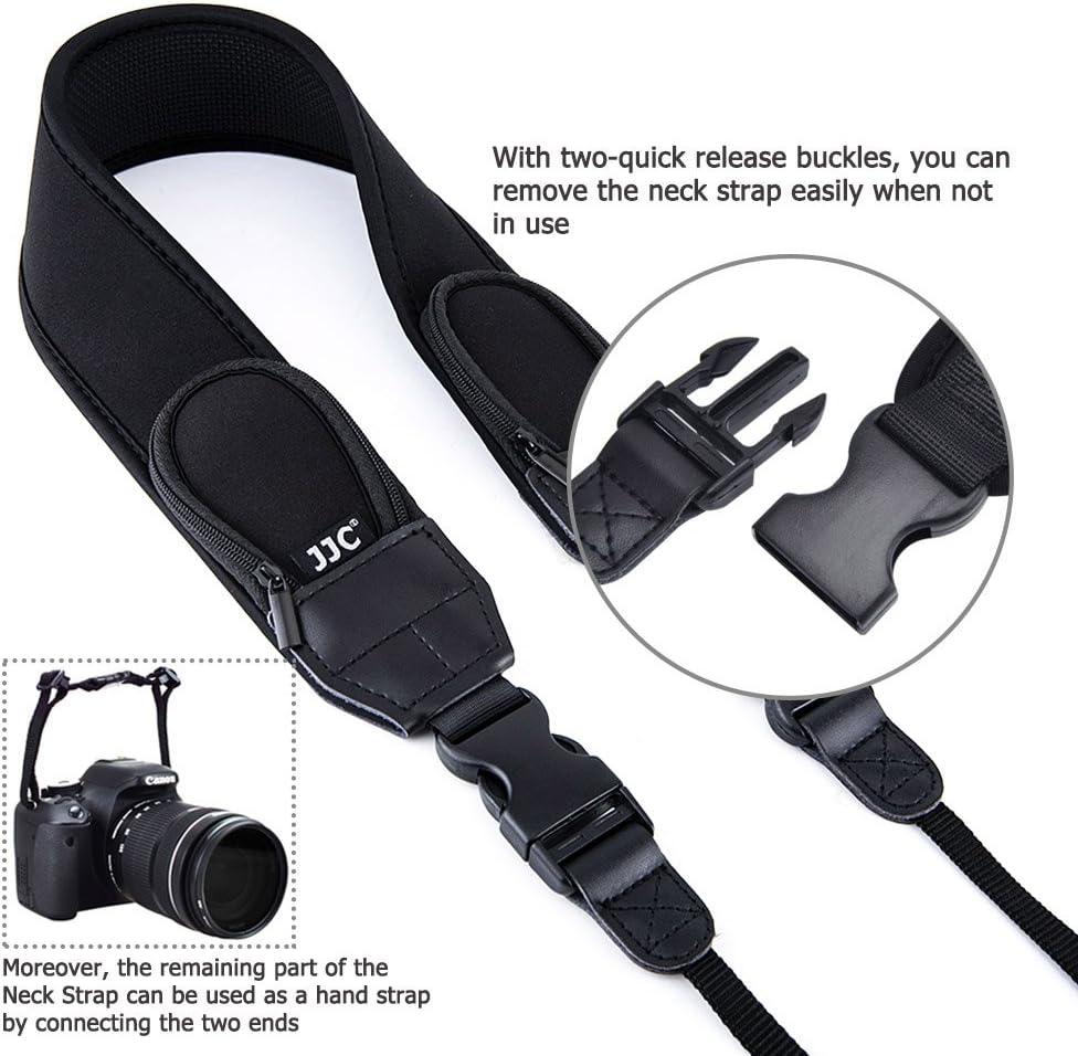 Camera Neck Strap JJC DSLR Neck Shoulder Belt Strap for Canon T7 T6 T5 7D 6D 5D T7i T6s T6i T5i SL2 SL1 80D 77D Nikon D3400 D3300 D3200 D5600 D5500 D7500 D7200 D850 D810 D500 D5 D4s Sony A99 A900,etc
