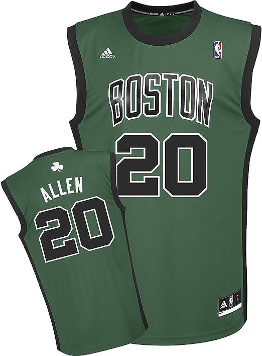 Amazon.com : NBA Boston Celtics Ray Allen Green Replica Jersey, XX ...