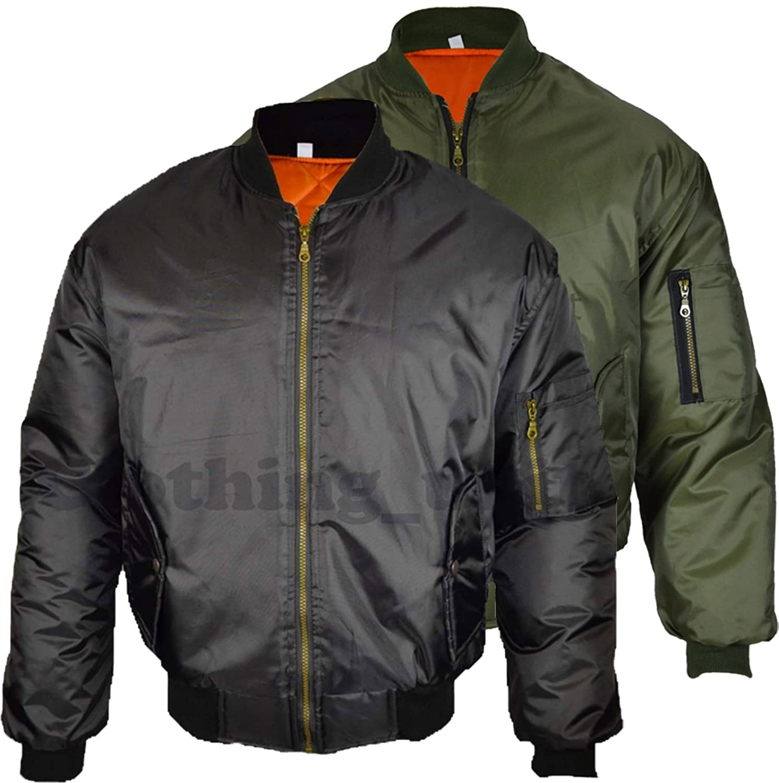 Mil-Com MA1 Flight Jacket - Black: Amazon.co.uk: Sports & Outdoors