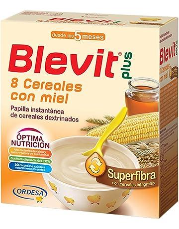 Blevit Plus Superfibra 8 Cereales con Miel - Paquete de 2 x 300 gr - Total