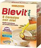 Blevit Plus Superfibra 8 Cereales con Miel - Paquete de 2 x 300 gr - Total: 600 gr