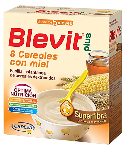BLEVIT Plus Superfibra 8 Cereales con Miel - 600 gr: Amazon.es: Amazon Pantry