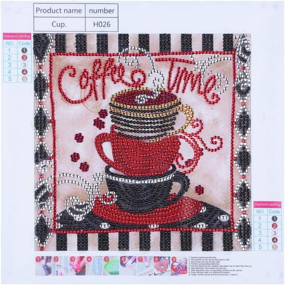 30x30cm Sewing Machine Cross Stitch Embroidery DIY Mosaic Full Round Diamond Painting Kits Wall Decor Crafts 3#