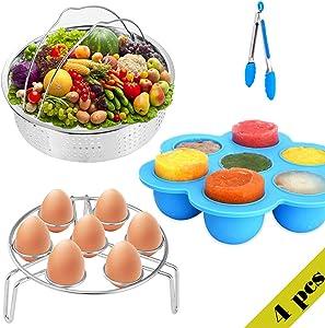 4 Pcs Pressure Cooker Accessories Set, Instant Pot Accessories Fit Instant Pot 6 qt 8 Quart Accessories Set for InstaPot, Dishwasher Safe