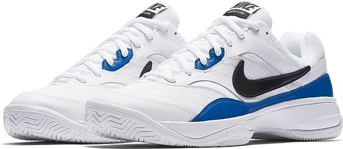 8d2f91bc944bc NIKE Men's Court Lite Tennis-Shoes, White/Black/Blue Jay, 11 D US ...