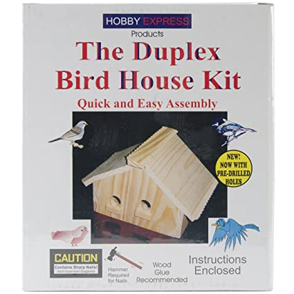 amazon com brand new unfinished wood kit duplex bird house brand rh amazon com  birdhouse brand tony hawk financial facts