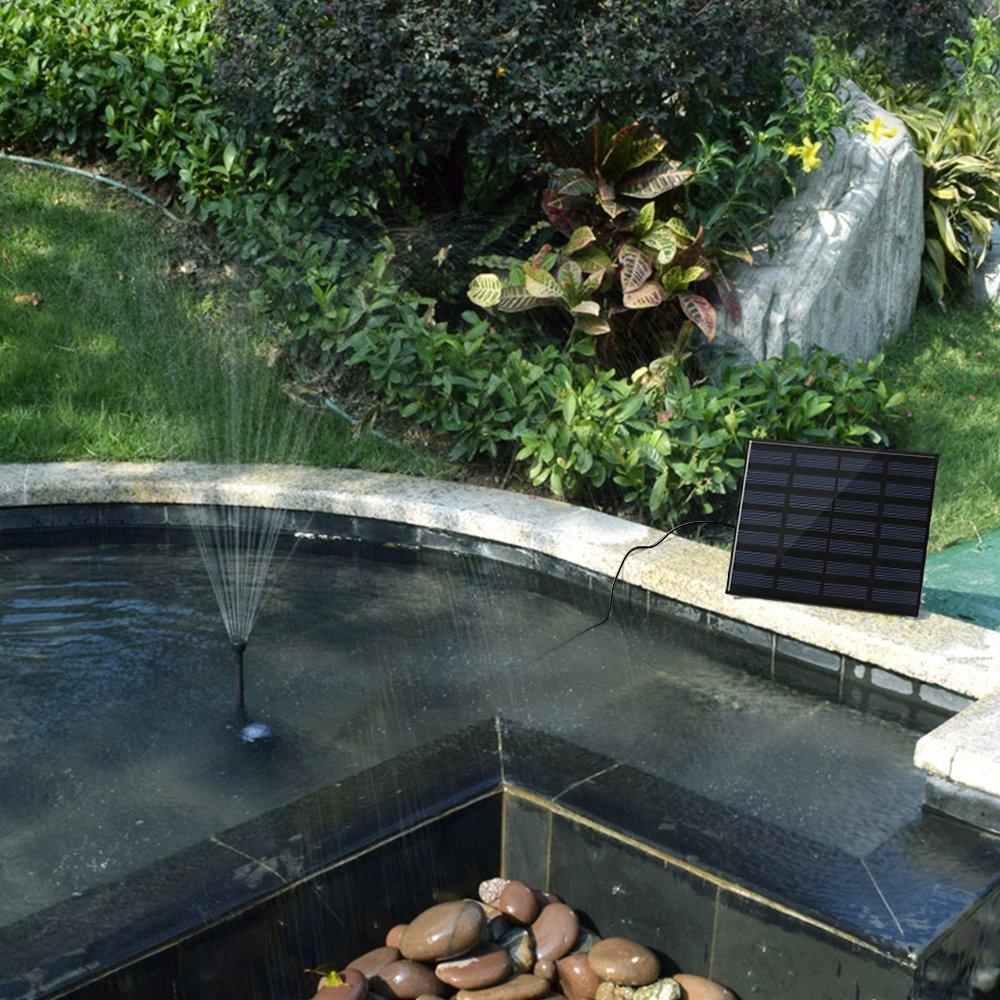 Amazon.com : 1.4 W Birdbath Fountain, maxin Solar Power Water Pump Panel Kit Submersible Water Pump for Bird Bath, Fish Tank, Small Pond, Garden Decoration.