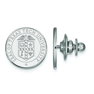 Amazon com: Texas Tech Crest Lapel Pin (Sterling Silver): Jewelry