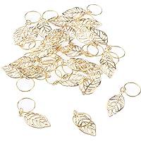 Fenteer 30pc Feuilles Perle Spacer à Tressage dreadlocks de Cheveux - Perle à DIY Bricolage de Bijoux