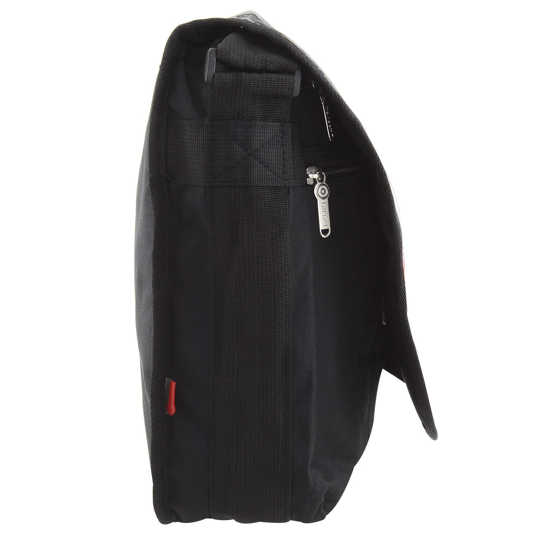 Black//Red Target 11-5896 Messenger Bag