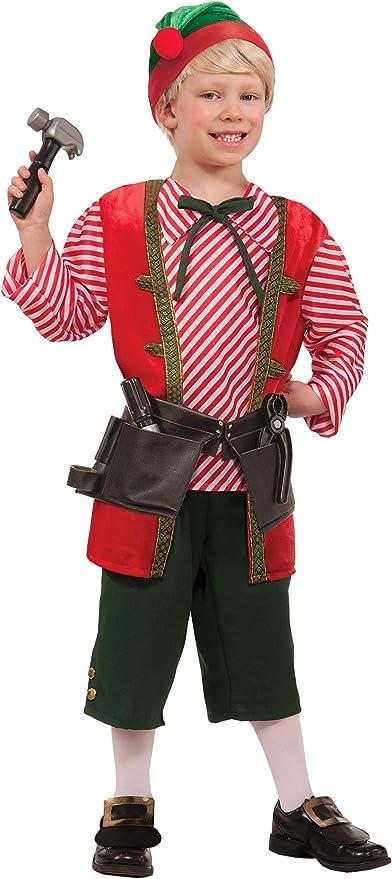 Toy Shop Elf Unisex Santas Helper Adult Christmas Toy Maker Costume-Std