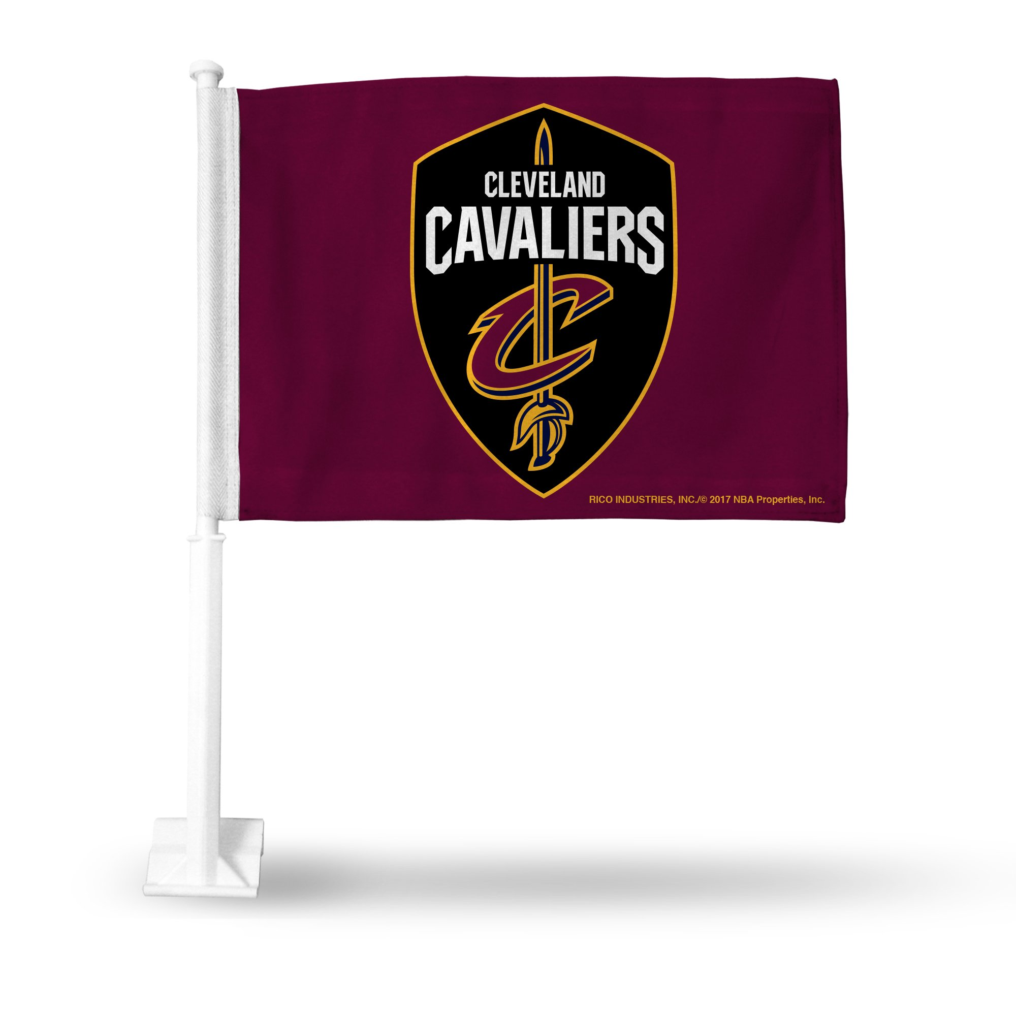 Rico NBA Cleveland Cavaliers Car Flag, Maroon, with White Pole
