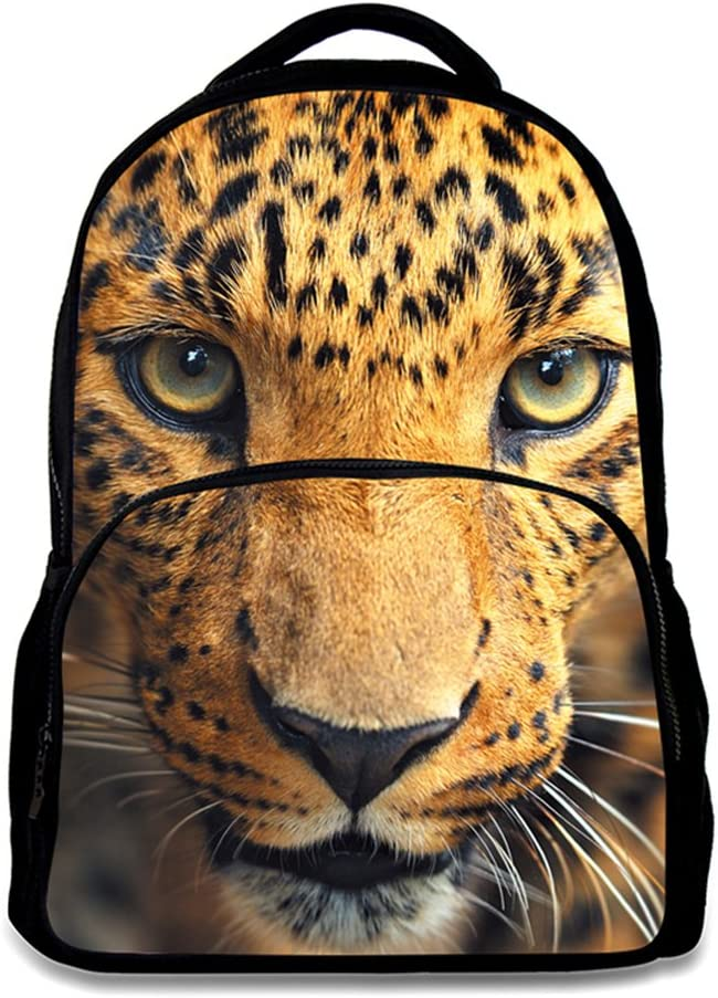 Animal School Bag Children s Age6-16 Polyester 17 Inch Laptop Backpack Cheetah 2