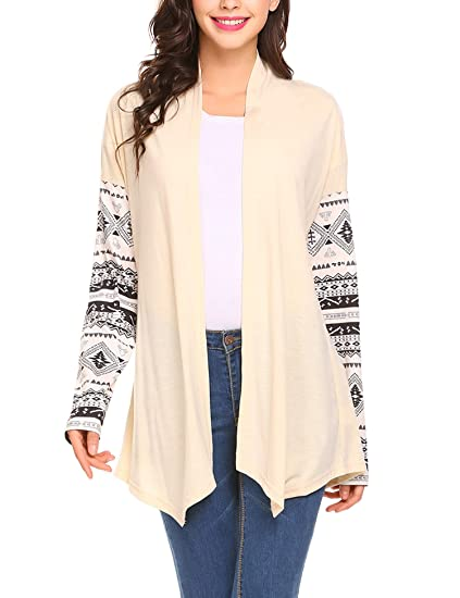 ea53bb7dafe28 SummerRio Women Open Front Cardigan Casual Fitting Style With Long Sleeve