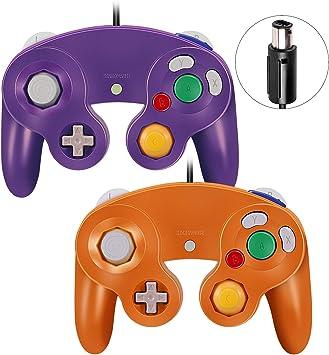 Mando Gamecube, VOYEE Juego de 2 mandos para Nintendo Gamecube y Wii (morado y naranja): Amazon.es: Electrónica