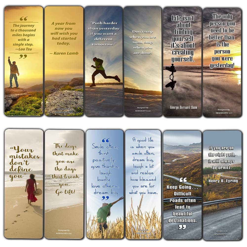 5ffba0fc34ef Inspirational Quotes Bookmarks Cards (12-Pack) for Inspiring and  Encouraging Men and Women