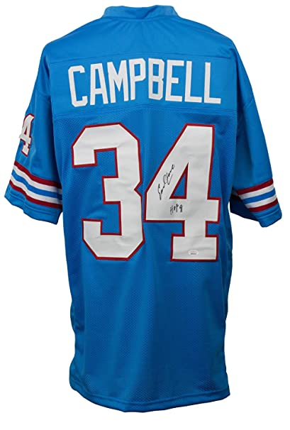 Earl Campbell Signed Blue Pro-Style Football Jersey HOF JSA at Amazon s  Sports Collectibles Store f2af715be