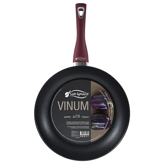 San Ignacio Sarten ø28cm VINUM - aluminio forjado - mango soft touch - ESPECIAL GAS Y VITRO Morado: Amazon.es: Hogar