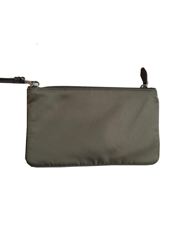 6184aecc21 Amazon.com: Prada Women's Gray Nylon Cosmetic Case Clutch Wristlet ...