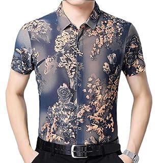 Gocgt Mens Casual Long Sleeve Button Down Dress Shirt Slim Fit Business Shirt