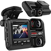 Pruveeo D30H Dash Cam with Infrared Night Vision and WiFi, Dual 1920x1080P Front and Inside, Dash Camera for Cars Truck…