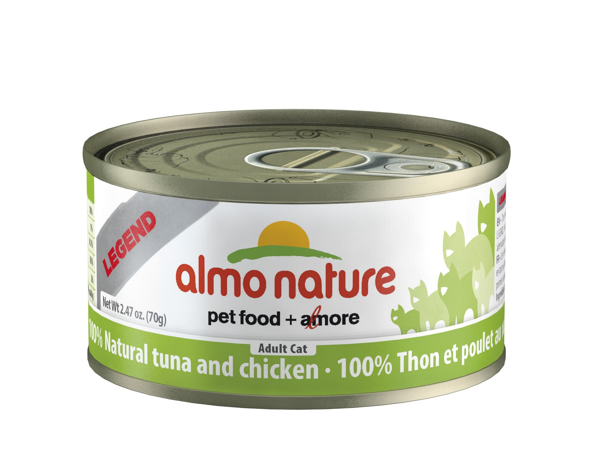 Almo Nature Tuna/Chicken Can Cat Food, Pack of 24 (70g)