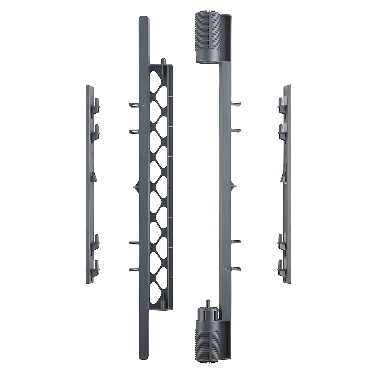 Superyard Wall Mount Kit' by North States: Hardware to make any Superyard Classic, Colorplay or Indoor-Outdoor 6-panel play yard or 2-panel play yard extension into an extra-wide barrier (Gray)