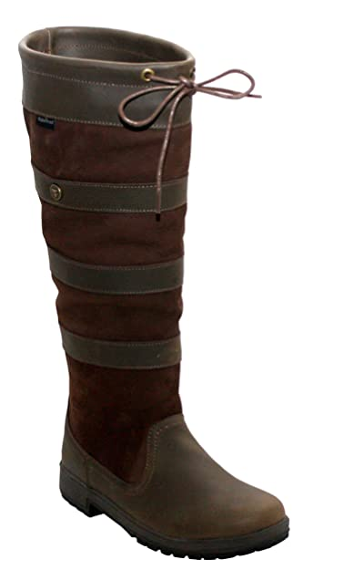 2bfbe30882c Wyre Valley Womens Ladies Leather Long Brown Waterproof Horse Riding Yard  Stable Country Boots UK Sizes 4-8