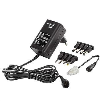 ANSMANN 1001-0024 ACS48 - Cargador para baterías NiMH / NiCd de 4-8 celdas (4.8V-9.6V), cable adaptador con zócalo Tamiya y 8 conectores de salida ...