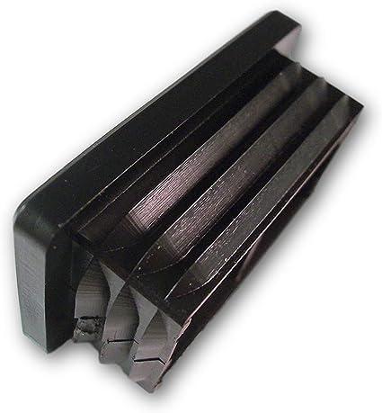 20 tappi decorativi//tappi di chiusura per tubi quadri con spessore di parete del tubo 1,5-2 mm