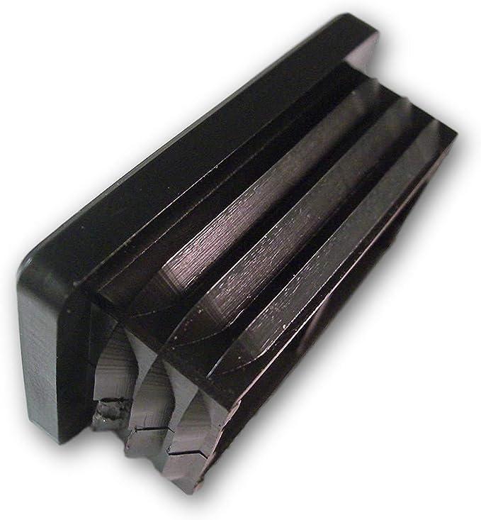 20 tapones, negros, para tubos cuadrados, dimensiones exteriores 40x20mm: Amazon.es: Bricolaje y herramientas