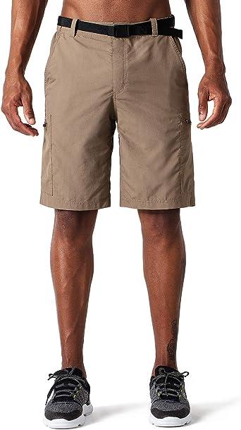 NAVISKIN Pantalones Cortos de Senderismo UPF 50 para Hombre, Pantalón de Térmica Acampada Campismo Marcha, Nailon Ligero Secado Rápido
