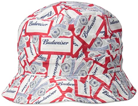 Budweiser Men s Reversible Solid to All Over Print Bucket Hat at ... 5d94fbdfdf8