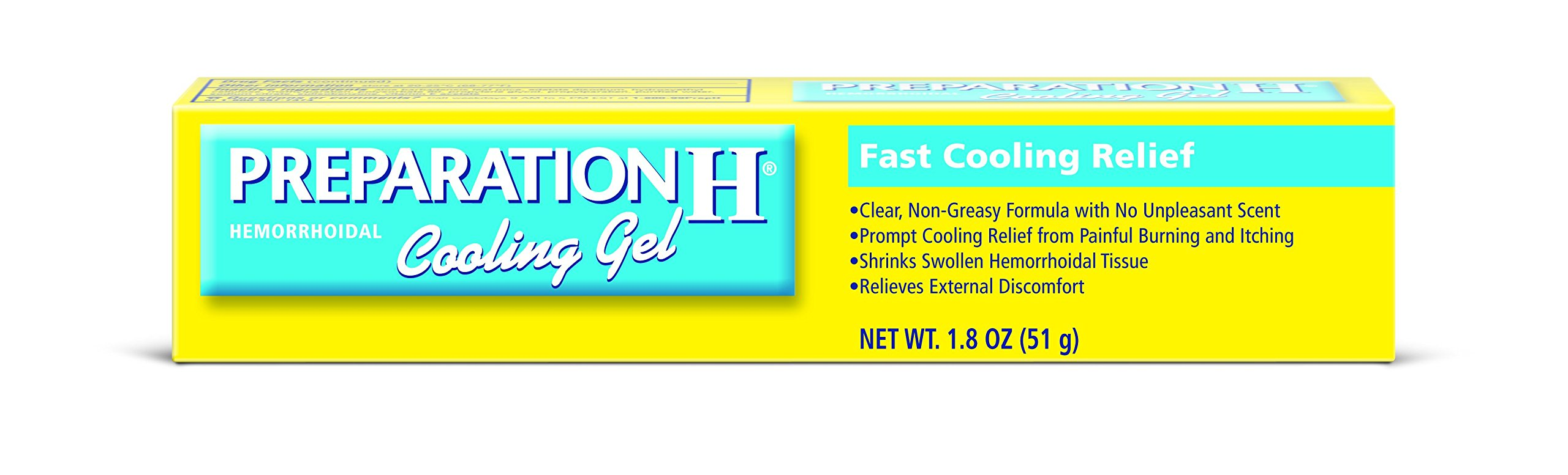 Preparation H Hemorrhoidal Cooling Gel For Fast Relief With Vitamin E And Aloe Tube (1.8 Ounce)