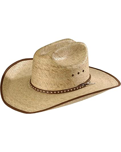 Image Unavailable. Image not available for. Color  Resistol Men s Brush Hog Mexican  Palm Straw Cowboy Hat Natural 7 ... d017aef86ce2