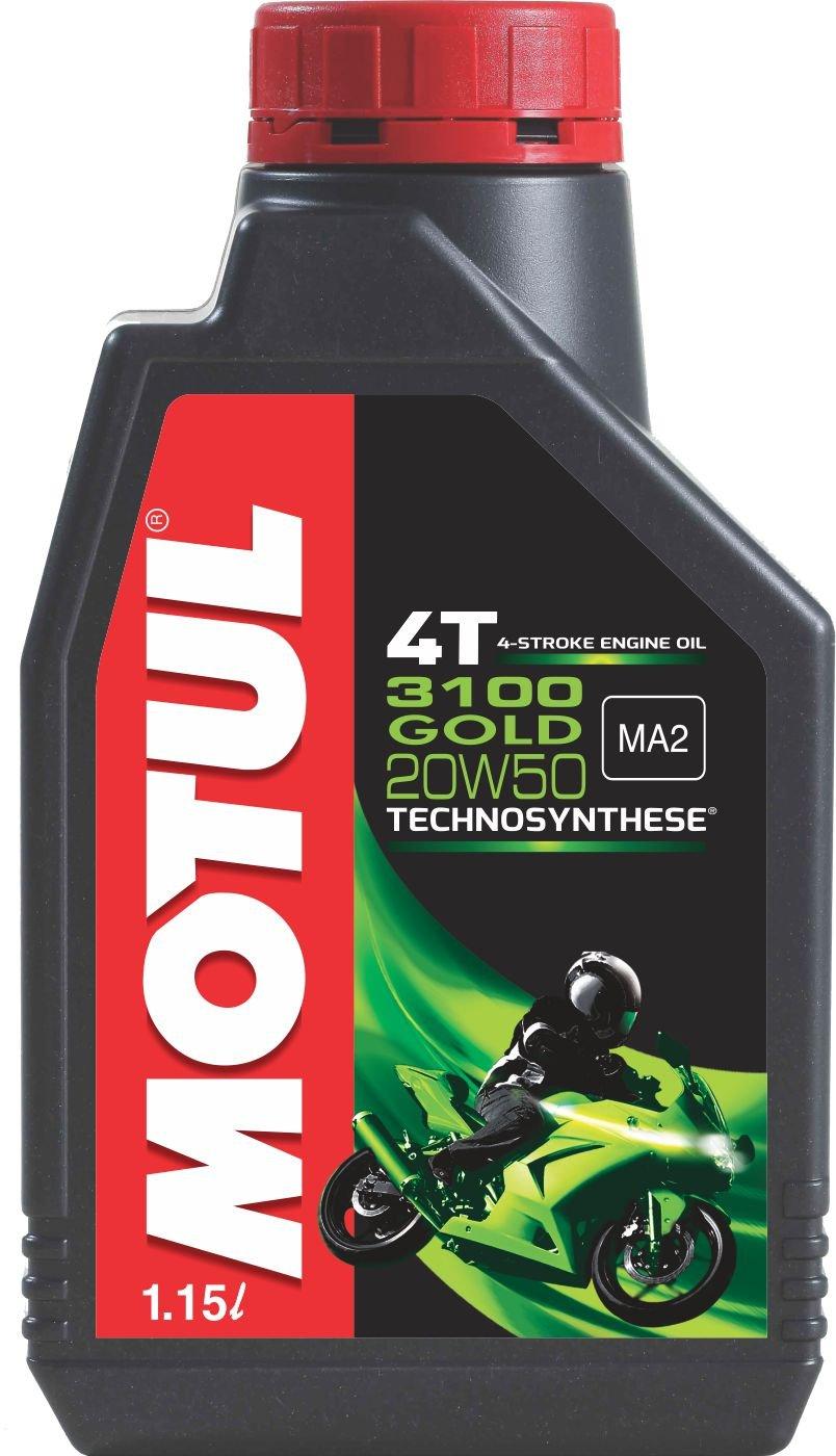 Motul 3100 4T Gold 20W50 API SM Semi Synthetic Engine Oil for Bikes (1.15 L) product image