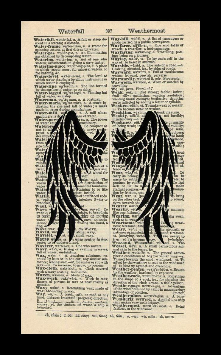 Amazon com: 128 buyloii Angel Wings Art Print-Angel Art-Vintage Art
